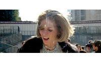 Anna Wintour, rédactrice en chef du Vogue US entartée par des militants anti-fourrure