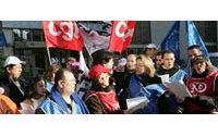 Manifestation au siège d'Armand Thierry contre la &quot&#x3B;discrimination syndicale&quot&#x3B;