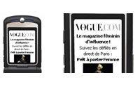 Vogue.com diffuse les défilés sur les téléphones portables