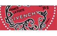 Givenchy signe un timbre pour la Poste