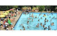 Swedish women shed bikini tops in pool campaign