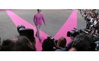 Men's fashion gets a feminine touch at Paris shows
