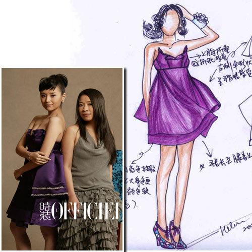 曝光明星礼服设计手稿 - 本周新闻 : 服装服饰 (#445