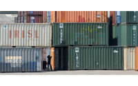 Thai exports fall again in February