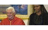 Il velo nero di Michelle davanti al Papa