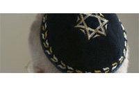 Palestinian women knit Jewish skullcaps