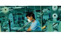 Protest für gerechtere Arbeitsbedingungen in der weltweiten Textilindustrie