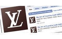Louis Vuitton showing live on Facebook