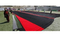 Palestinians make world's largest embroidered dress