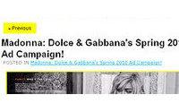 Madonna estampa campanha da Dolce&Gabanna