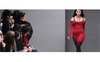 Plus-size models take to London catwalk