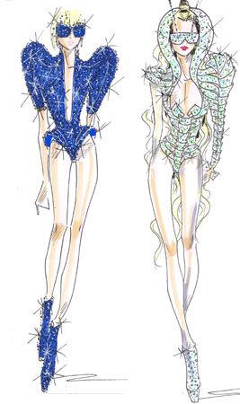 乔治·阿玛尼为lady gaga巡回演出设计服装
