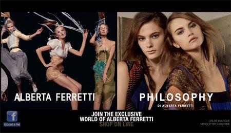 Alberta Ferretti e Philosophy inaugurano online shop ...