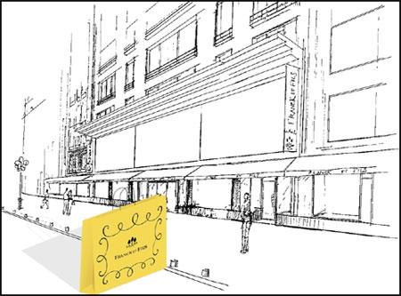 Franck et fils riorganizza i due piani del suo negozio for Piani di costruzione del negozio