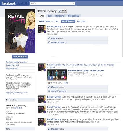 Sugar Inc., facebook