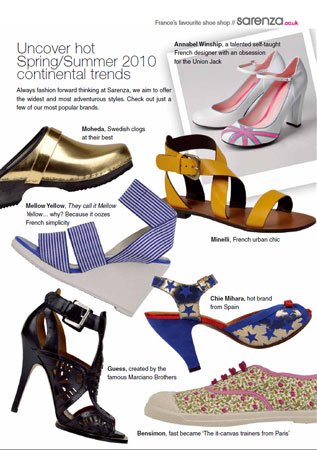 SARENZA.com hits UK with continental brands kids shoes