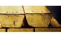 Gold gains on firm euro but jewelers retreat