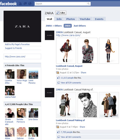 Zara Ranks 15th Place With 4 4 Million Fans On Facebook News Media 119677