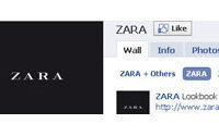 Zara ranks 15th place with 4.4 million fans on Facebook