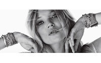 Kate Moss posa desnuda para las joyas de David Yurman
