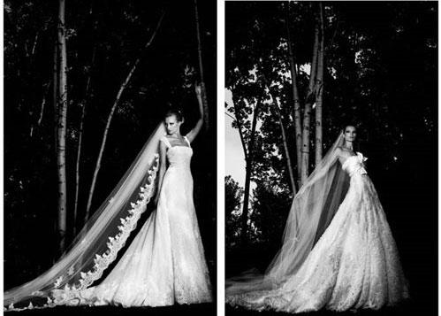 Two Elie Saab wedding dress designs