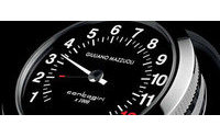 Mazzuoli brevetta orologio 'Contagiri', con lancetta a 270°