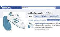 Adidas Superstars lanza sus modelos Facebook y Twitter