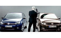 Karl Lagerfeld takes part in Volkswagen's promotion