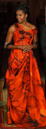 Oscar de la Renta, Michelle Obama