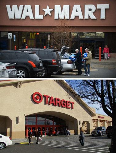 Wal-Mart, Target