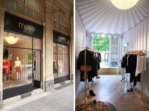 Maje inaugure sa boutique dans les jardins du palais royal - La boutique du jardin ...