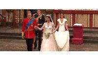 'Beautiful' Kate wears dress by McQueen designer