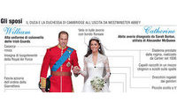 Nozze reali: gli abiti degli sposi, il grafico