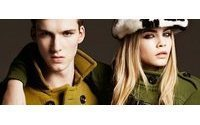 Burberry first quarter beats forecasts, wholesale improves