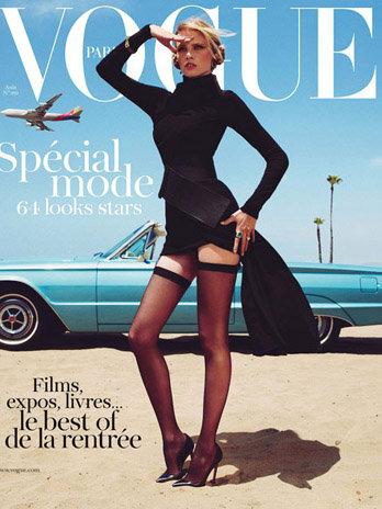 Haider Ackermann, Lara Stone, Vogue