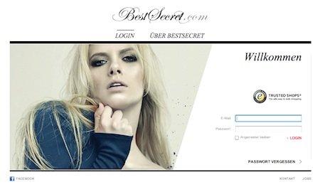 onlineshopping club bestsecret relauncht website news vertrieb 190023. Black Bedroom Furniture Sets. Home Design Ideas