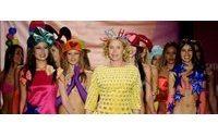 Los corazones de Agatha Ruiz de la Prada llenan las pasarelas de Colombiamoda