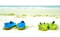 Sommer-Schuhe in Quietschgelb und Himmelblau