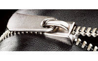 YKK's leather zipper