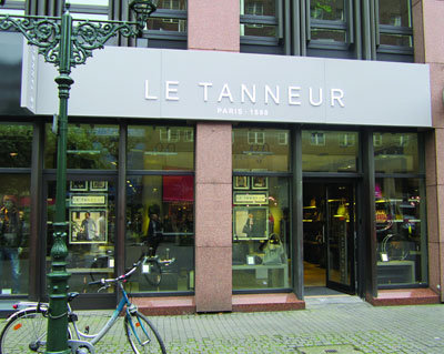 le tanneur er ffnung der ersten boutique in deutschland news vertrieb 205854. Black Bedroom Furniture Sets. Home Design Ideas