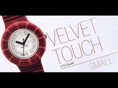 Hip Hop Velvet Touch, orologio in velluto con cristalli
