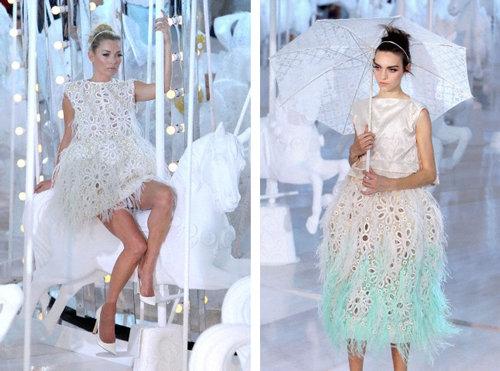 Profundos escotes con Elie Saab y colores pastel con Louis Vuitton ...