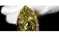 El diamante amarillo más puro y grande que se conozca a subasta en Ginebra