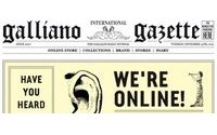 Джон Гальяно запустил сайт и веб-магазин
