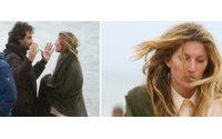 Gisele Bündchen treme de frio durante fotos para a nova campanha da Givenchy