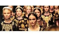 Dolce & Gabbana's golden Baroque look in Milan