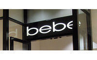 Bebe sees smaller 4th-quarter profit, shares down