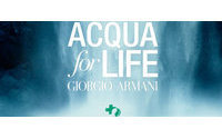 Giorgio Armani consigue un 20,3% más de agua potable que en 2011 con el desafío 'Acqua for Life'