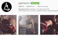 Gigi Hadid: guantoni da box per la nuova adv Reebok