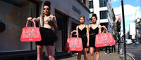 ​PETA activists stage protest outside Hermès London flagship store